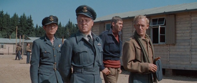 "Robert Desmond, Richard Attenborough, James Coburn, and Gordon Jackson in The Great Escape (1963). Desmond played Flying Officer Griffith, a fictionalized version of the real camp ""tailor"", Tommy Guest."