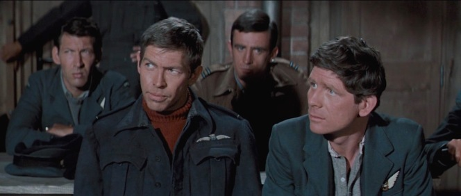 "James Coburn and Robert Desmond, who played the ""tailor"" Griffith, in The Great Escape (1963)"