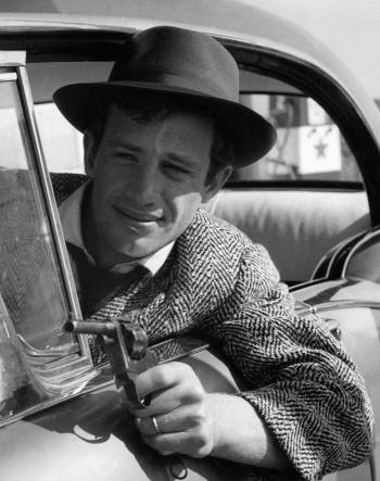 Jean-Paul Belmondo as Michel Poiccard in À bout de souffle (Breathless) (1960).