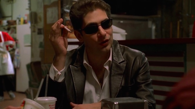 """Those who want respect, give respect,"" Tony warned the doomed Richie Aprile (David Proval) two seasons earlier. Christopher does not seem to heed his uncle's advice, letting his new position go straight to his head and showing plenty of disrespect by keeping his sunglasses on during a meeting with the associates who were passed over for his promotion."
