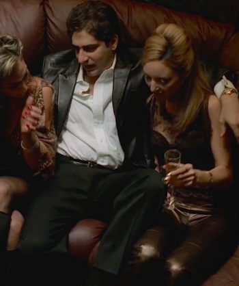 "Michael Imperioli with Drea de Matteo and Lola Glaudini on The Sopranos (Episode 4.02: ""No Show"")"