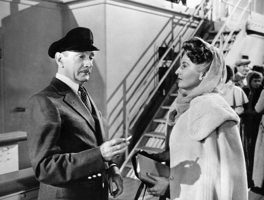 Production photo of Clifton Webb and Barbara Stanwyck in Titanic.