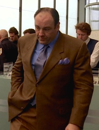 "James Gandolfini as Tony Soprano on The Sopranos (Episode 4.05: ""Pie-o-My"")"