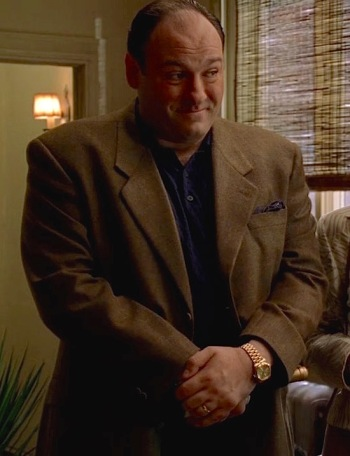 "James Gandolfini as Tony Soprano on The Sopranos (Episode 4.12: ""Eloise"")"