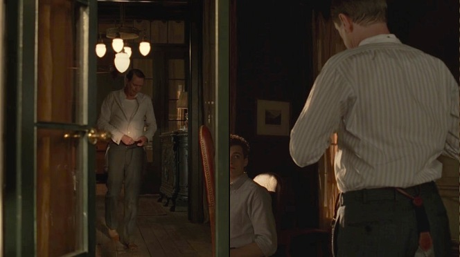 "Nucky dresses for the day in ""The Old Ship of Zion"" (Episode 4.08)."