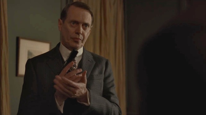 """Nucky prepares for a confrontation in """"White Horse Pike"""" (Episode 4.10)."""