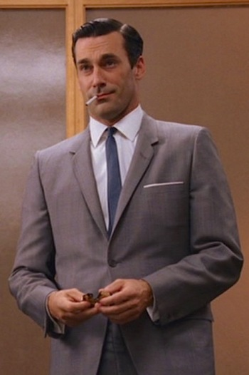 "Jon Hamm as Don Draper on Mad Men (Episode 1.10: ""Long Weekend"")"