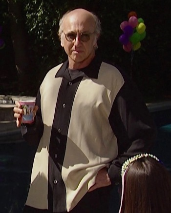 "Larry David on Curb Your Enthusiasm (Episode 3.01: ""Chet's Shirt"")"