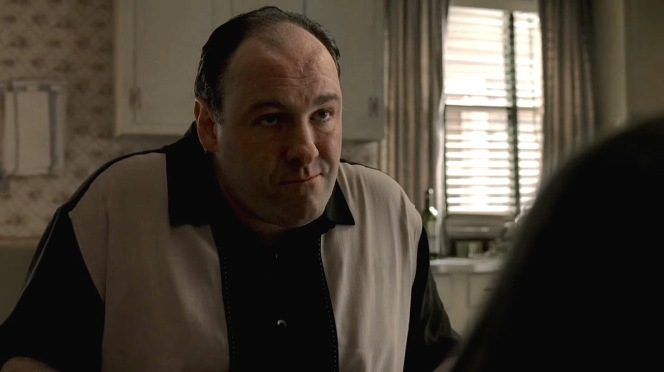 "James Gandolfini as Tony Soprano in ""Two Tonys"" (Episode 5.01)"