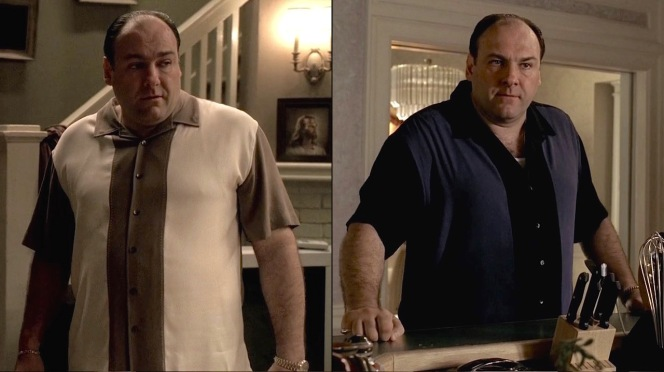 "James Gandolfini as Tony Soprano in ""Irregular Around the Margins"" (Episode 5.05)"