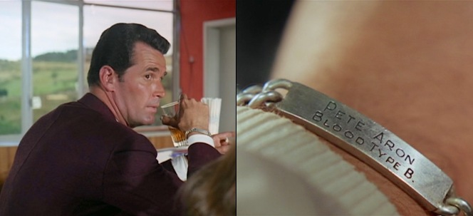 Pete and his fellow drivers' steel identity bracelets serve as a constant and grim reminder of the dangers that they face each time they take the wheel before a race.