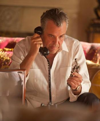 "Danny Huston as Ben ""the Butcher"" Diamond in ""Feeding Frenzy"", episode 1.02 of Magic CIty (2012-2013)"