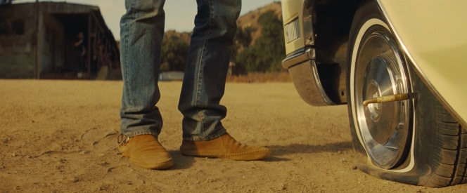 Cliff Booth's Minnetonka boots in Once Upon a Time in Hollywood.