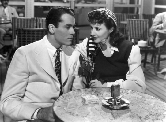 Production photo of Henry Fonda and Barbara Stanwyck in The Lady Eve.