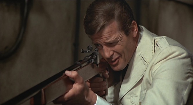 Bond takes aim at something Lazar values even more highly than his custom-built rifle.
