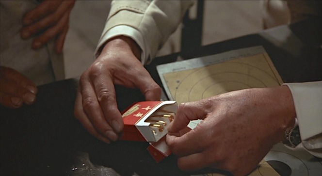 Bond collects evidence.
