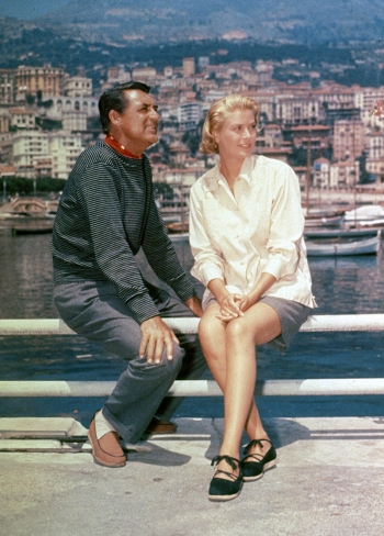 Cary Grant and Grace Kelly on location for To Catch a Thief (1955)