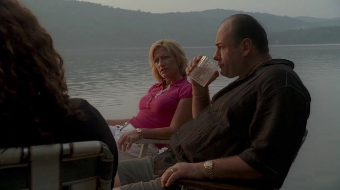 "Nothing livens up a comfortable night by the lake like talking about a ""brain dead"" three-year-old floating in a swimming pool. The Sopranos really know how to party!"