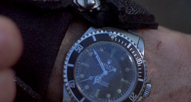 You could hardly ask for a clearer shot of Arthur Bishop's Rolex Submariner.