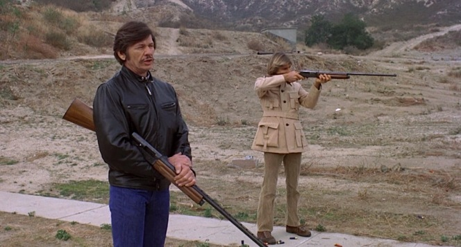 """""""Point the gun as though it were an extension of your arm... and keep both eyes open,"""" Arthur advises Steve."""