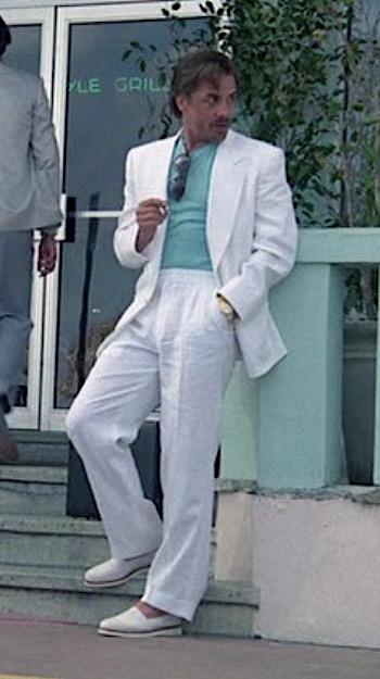 80/'s Deluxe Miami Vice White Suit Crockett