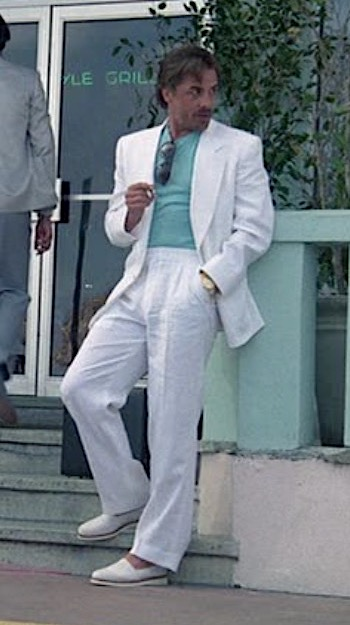 "Don Johnson as Sonny Crockett in the Miami Vice pilot episode ""Brother's Keeper"""