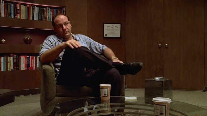 "Bringing two coffees to their therapy sessions isn't enough to endear Tony to Dr. Melfi, for whom he would declare his love by the end of ""Pax Soprana"" (Episode 1.06)."