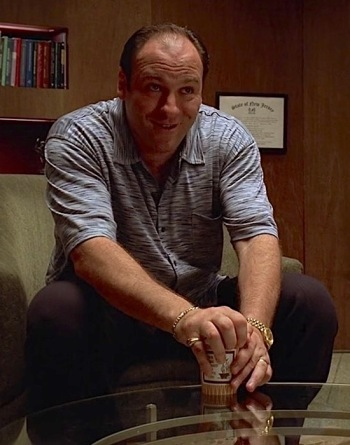 "James Gandolfini as Tony Soprano on The Sopranos (Episode 1.06: ""Pax Soprana"")"