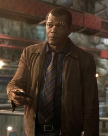Samuel L. Jackson as Nick Fury in Captain Marvel (2019)