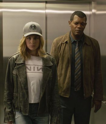 Samuel L. Jackson and Brie Larson in Captain Marvel (2019)