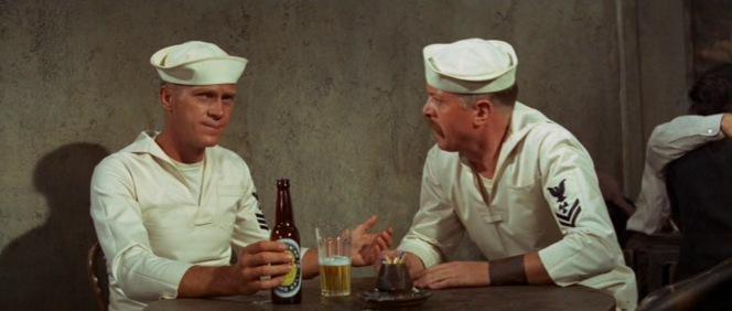 Holman enjoys a U.B. with Frenchy.