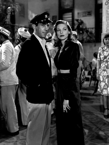 Humphrey Bogart and Lauren Bacall in To Have and Have Not (1944)