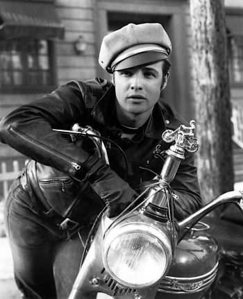 Homer Van Pelt's enduring image of a leather-clad Marlon Brando leaning on his Triumph motorcycle remains a best-selling poster and print.