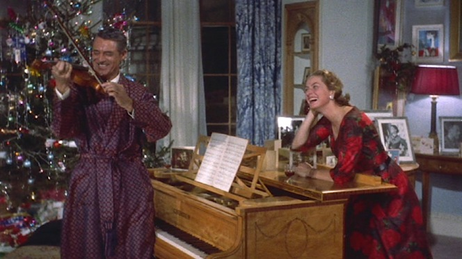 Anna gets the ideal reaction for her Christmas gift when Philip can't help but to leap to his feet and play his new violin.
