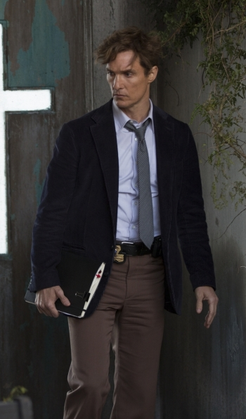 "Matthew McConaughey as Rustin ""Rust"" Cohle on True Detective (Episode 1.02: ""Seeing Things"")"