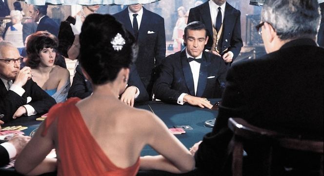 """""""Bond, James Bond."""" Sean Connery made his iconic introduction as James Bond in Dr. No (1962)."""