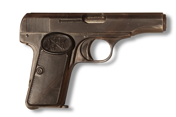 FN Model 1910, serial #530203, currently on display at Morges military museum. (Source: Wikimedia Commons)