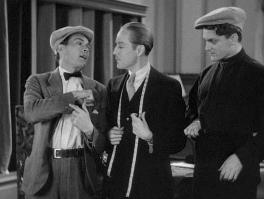 "While Matt Doyle's request for five sleeve buttons may have been a violation of good taste, the enforcers of the Hays Code were more concerned with the portrayal of the tailor—and said tailor's interest in Tom's muscle—defying the Code's provision against ""any inference of sex perversion""."