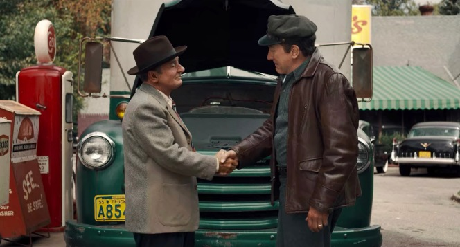 "Frank Sheeran's first handshake with Russell Bufalino made an impression on the young truck driver after the gangster's mechanical abilities got his ""horse"" up and running again."
