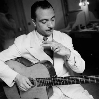 The real Django Reinhardt, circa 1940s.