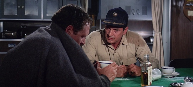 After a troubling near-disaster aboard Tigerfish, Jones turns to the solace of coffee... laced with plenty of Ballantine's Finest.
