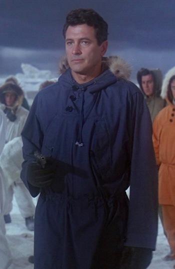 Rock Hudson as CDR Jim Ferraday in Ice Station Zebra (1968)