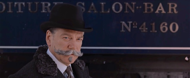 Between the astrakhan fur coat collar and his own double mustache, Poirot would be nicely insulated when stepping outside on a cold day.
