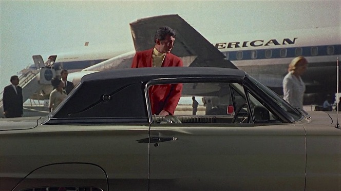 Matt Helm gets acquainted with his latest ride.