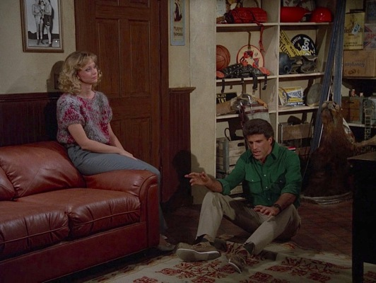 "Sam finds himself on the floor during one of many heated ""what are we?"" arguments with Diane, partly out of exasperation and partly because she pushed him."