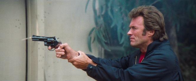 Harry fires a cylinder through Davis' Colt Python revolver.
