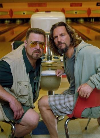 Jeff Bridges and John Goodman in The Big Lebowski (1998)
