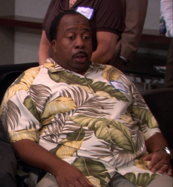 """Leslie David Baker as Stanley Hudson on The Office (Episode 8.15: """"Tallahassee"""")"""