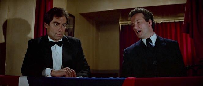 Saunders is just jealous that he doesn't look as debonair as England's star secret agent.
