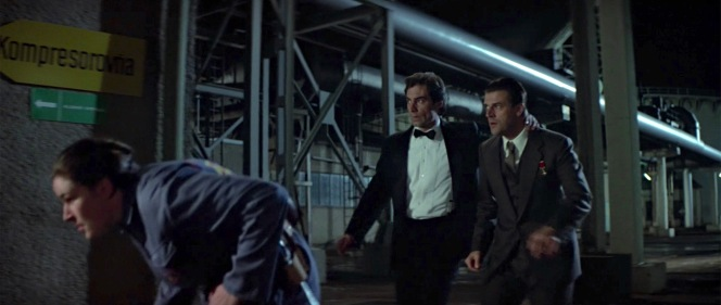 Unfortunately, the combination of Dalton's Bond being a man of action and his preference for clip-on suspenders allows his trousers to sag to a less elegant lower rise.